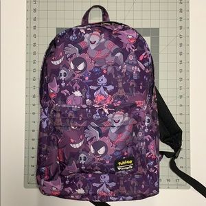Loungefly Pokémon purple ghost type backpack 17.5""